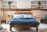 Coleridge Solid Wood Bed Frame - Tall Plank Headboard